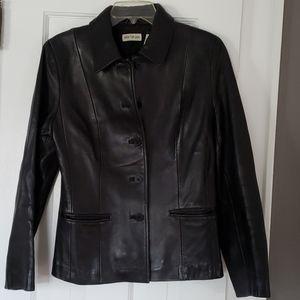 Ann Taylor leather blazer/jacket